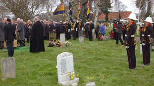 The Reverend Bob Mason at the funeral of former Royal Marine James McConnell