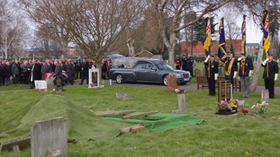 The funeral of former Royal Marine James McConnell