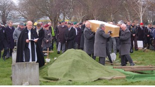 Hundreds turned out for the funeral of former Royal Marine James McConnell