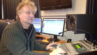 Barry Tomes, CEO of Tomes PR, in his recording studio