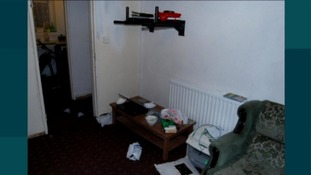 Inside the lounge of the men's Sparkhill flat