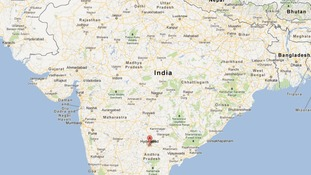 Hyderabad is around 1,500km south of New Delhi