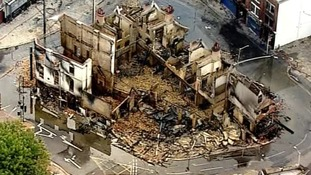 Thompson jailed for riots blaze