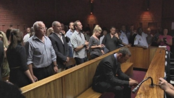 Oscar Pistorius seen in court today