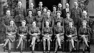 1944: WAAFs photograhed outside Rosemount House, Montrose