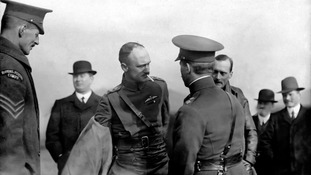 1913: The men of No 2 Squadron the Royal Flying Corps arrive at Montrose