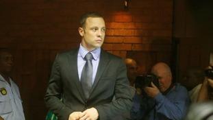Oscar Pistorius in court yesterday