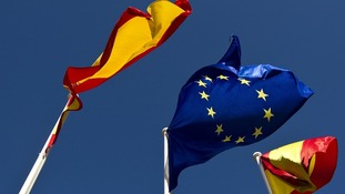 Spanish and European flag