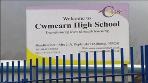 School sign