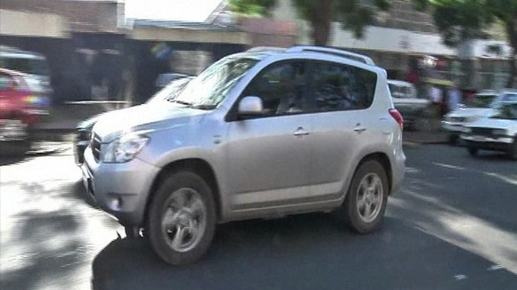 This silver car is believed to have carried Pistorius away from court