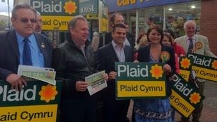 Leanne Wood with Plaid