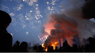 The pop and fizzle of fireworks ahead of New Year in South Korea