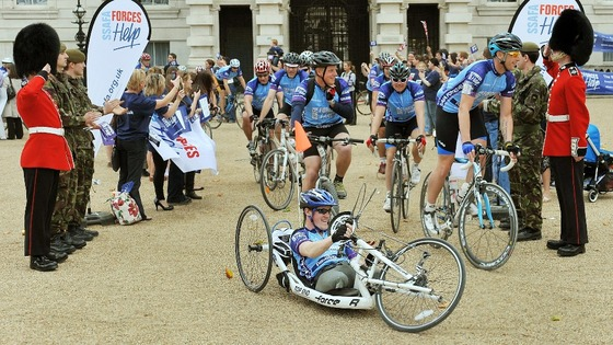 A charity bike ride organised by the Soldiers, Sailors, Airmen and families association