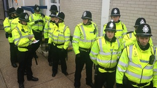 Hundreds of officers police Cambridge demos