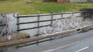 Icy fence in Alton.