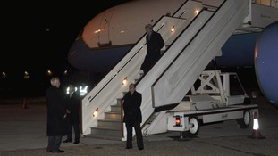 John Kerry arrives in London to begin his first overseas visit as Secretary of State