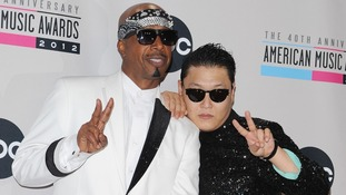 MC Hammer and PSY at the 40th Anniversary American Music Awards last year