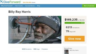 The Give Forward website where money is being raised for Billy Ray Harris.