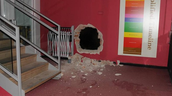 The aftermath of the robbery at Durham&#x27;s Oriental Museum.