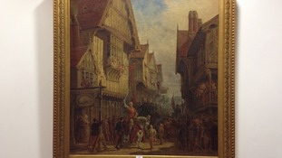 The painting in Leicester