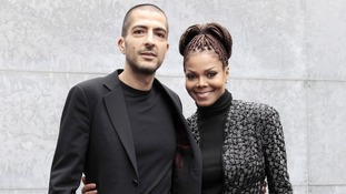 Janet Jackson and Wissam Al Mana pictured yesterday at Milan Fashion Week.