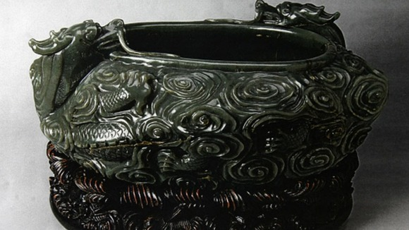An 18th century jade bowl stolen from the Oriental Museum in Durham City.