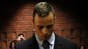 The London 2012 Olympic star, Oscar Pistorius, pictured in a South African court last week.