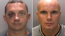 Adrian Stanton (left) and Lee Wildman, who police have named in connection with the robbery at Durham University's Oriental Museum.