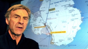 Sir Ranulph Fiennes was injured in a fall while skiing during training at base camp
