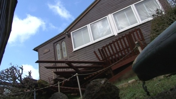 Five holiday homes were damaged in landslips