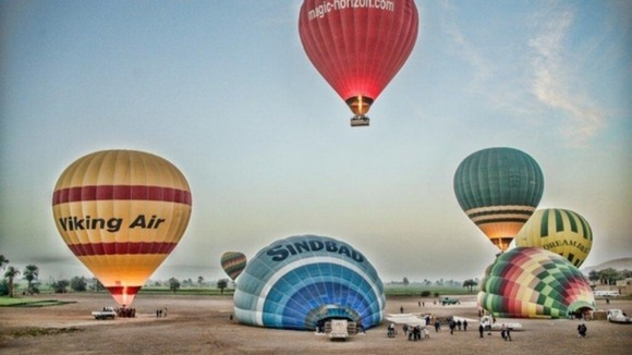 Some of the hot air balloons operating in the area prior to the explosion