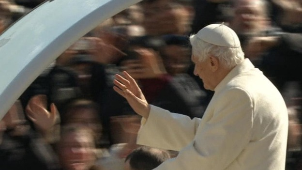 "The Pope arrived in his ""popemobile"" to hold his final public audience"