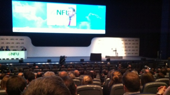 NFU president address the NFU conference in Birmingham