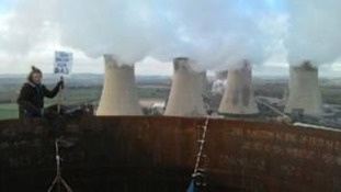 Protest at West Burton Power Station