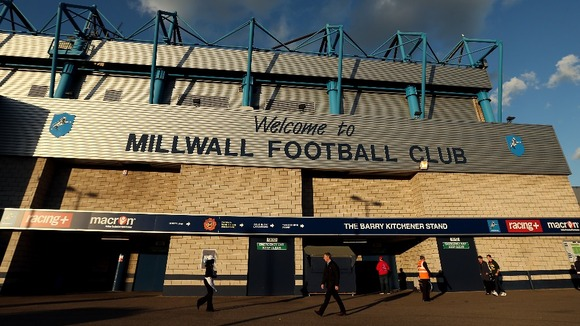 A general view of The Den, home of Millwall Football Club.