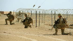 British troops training at Camp Bastion in Afghanistan