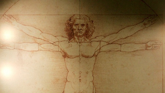 Leonardo da Vinci&#x27;s &#x27;Vitruvian Man&#x27; is based on the correlation of ideal human proportions - the ideal astronaut?
