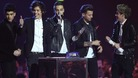 One Direction picking up the Global Success Awards at the Brits .