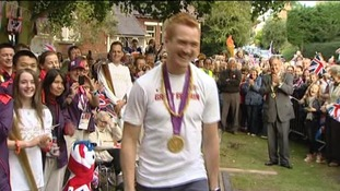 Greg Rutherford will receive an MBE today
