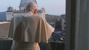 The Pope's view of the crowds.