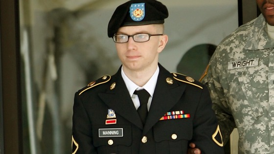 Bradley Manning pictured last March