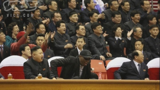 Dennis Rodman is visiting North Korea with some members of the Harlem Globetrotters.