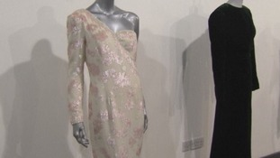 Two of the evening gowns.
