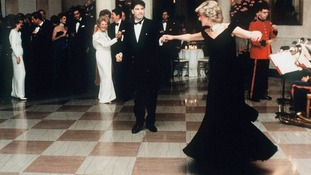 Diana pictured dancing with John Travolta at the White House in 1985.