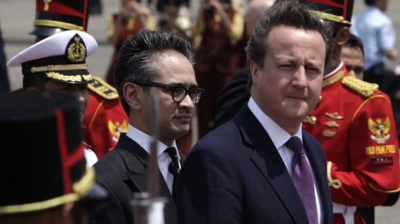 David Cameron in Indonesia