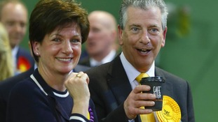 Mike Thornton and UKIP's Diane James