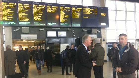 Delays for commuters at Milton Keynes