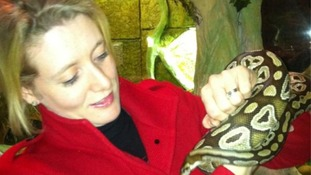 ITV's Emma Walden takes on a python at croc hunter interview