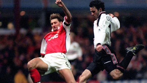 April 1999. The goal that defined his career. United vs Arsenal FA cup semi final.