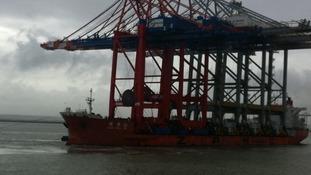 Cranes on ship
